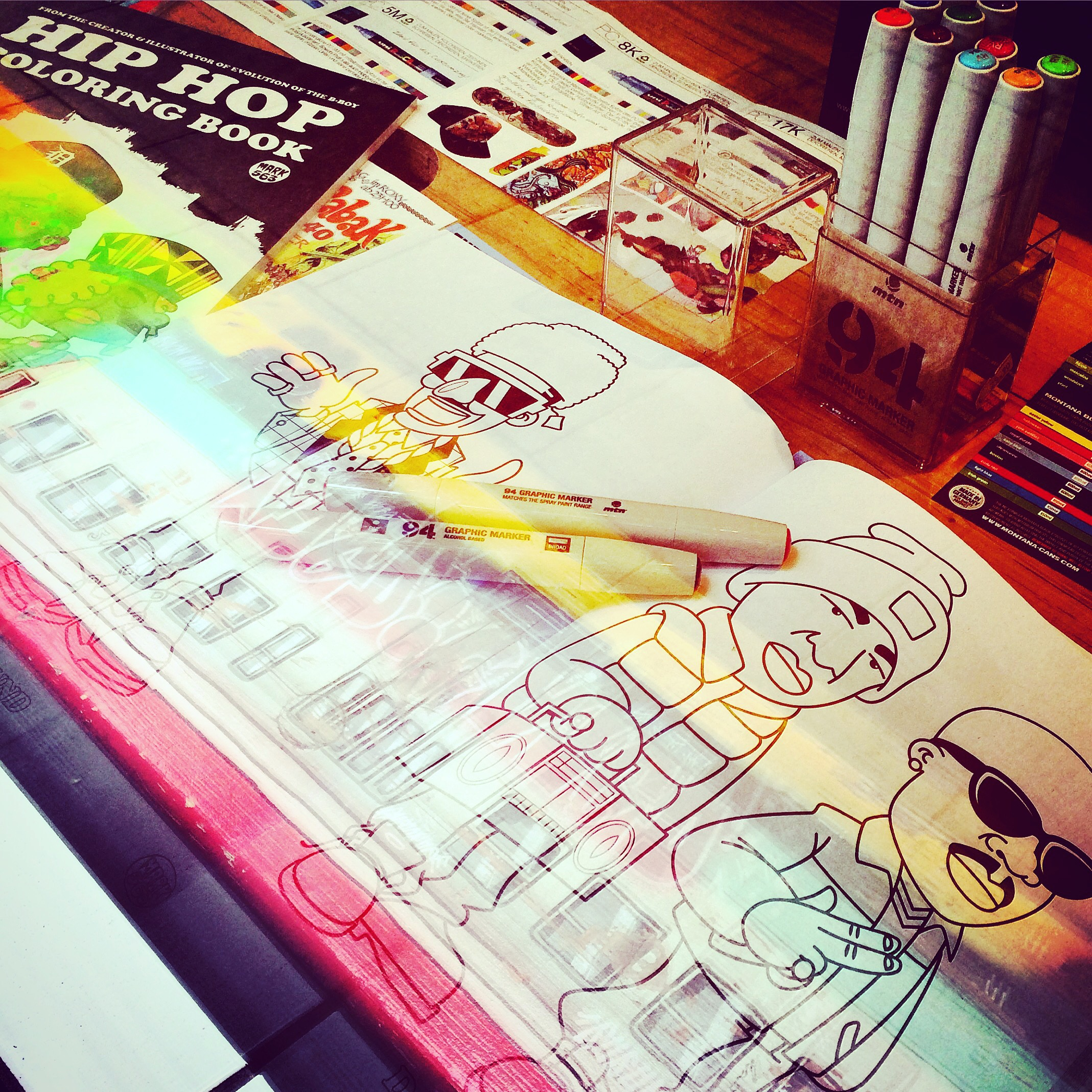 Dedicated Store » Blog Archive » DEDICATED to HIP HOP COLORING BOOK
