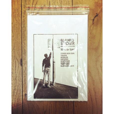 Blanko Sticker DIN A4