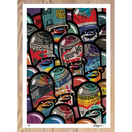 FLYING FÖRTRESS - Rusty Oldschool Cans 2020  Print