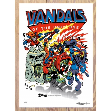 FLYING FÖRTRESS - Vandals Of The Universe A.P. Print