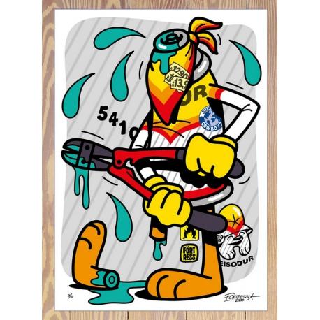FLYING FÖRTRESS - Rasselbande II - Chopped Eisodur Print