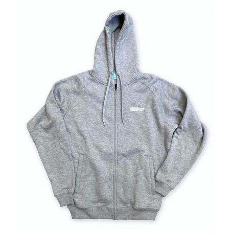 Montana Logo Hooded Zipper grau meliert