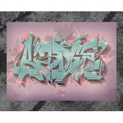 Biatsch One COSMIC RAYS Artprint