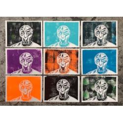 Nora Schwabe MF DOOM Linol Print