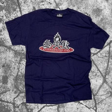 Stick Up Kidz Skull Logo T-Shirt Blue