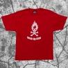 Stick Up Kidz Flame Skull T-Shirt red