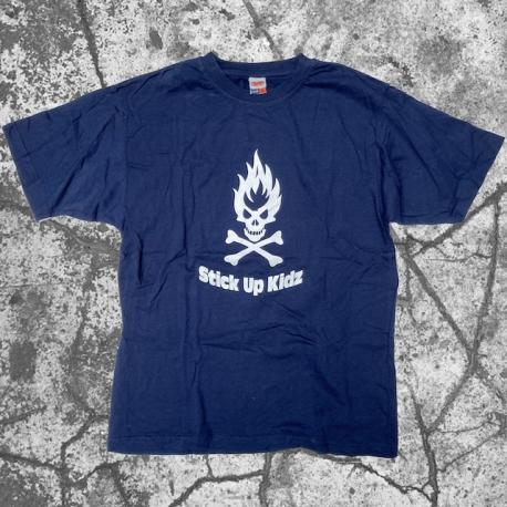 Stick Up Kidz Flame Skull T-Shirt navy