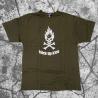 Stick Up Kidz Flame Skull T-Shirt green