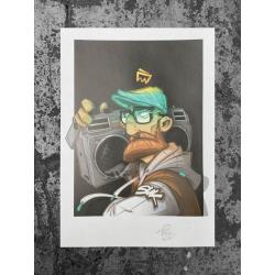 Hombre BLASTER Artprint