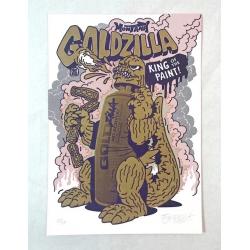 FLYING FÖRTRESS Goldzilla Letterpress Print