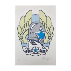 FLYING FÖRTRESS Letterpress Winglogo Print