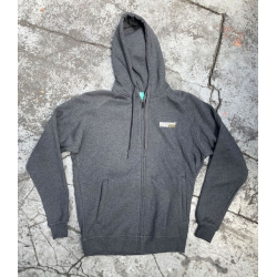 Montana Cans Logo Hooded Zipper Charcoal