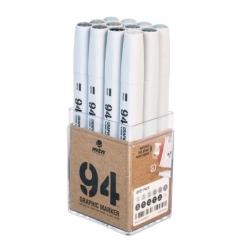 94 Graphic Marker 12er-Set GREY
