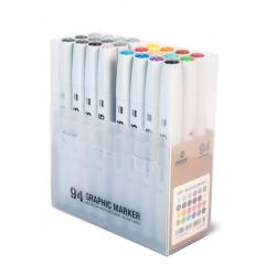 94 Graphic Marker 24er-Set SOLID/GREY