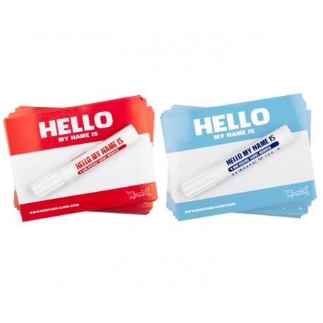 """""""Hello my name is..."""" Sticker von Montana Cans"""