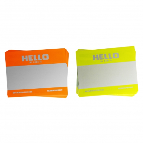 """Hello my name is..."" NEON Sticker von Montana Cans"