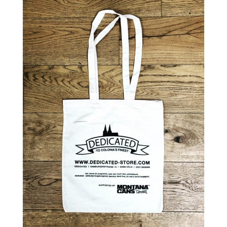 Dedicated White Cotton Bag