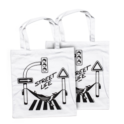 Montana Street Life Cotton Bag - white