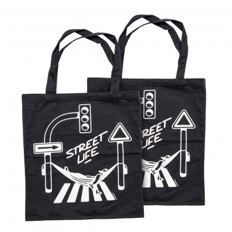Montana Street Life Cotton Bag - black