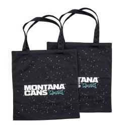 Montana Cotton Bag - Typo Logo + Stars - black