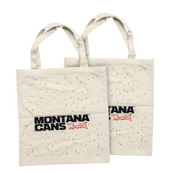 Montana Cotton bag - Typo Logo + Stars - nature white