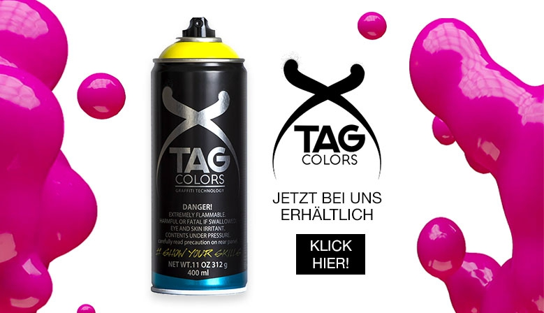 TAG colors Sprühdose jetzt bei dedicated syndicate bestellen!