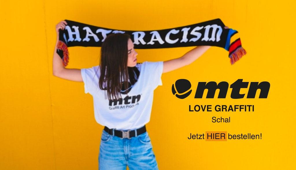 MTN Schal LOVE GRAFFITI jetzt bei dedicated syndicate preordern!
