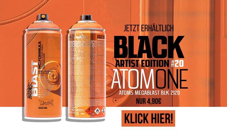 Montana Limited Edition ATOM Sprühdose  jetzt bei dedicated syndicate kaufen!