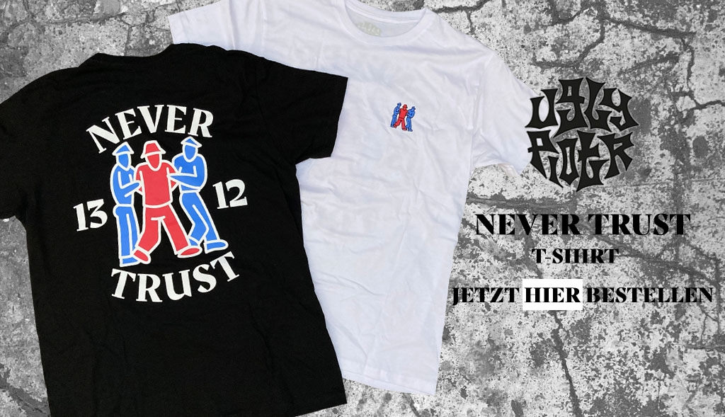Ugly Piotr NEVER TRUST T-Shirt jetzt bei dedicated syndicate kaufen!